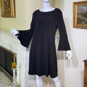 NWT Lori Michaels LBD Bell Sleeves
